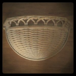 Vtg basket shelf